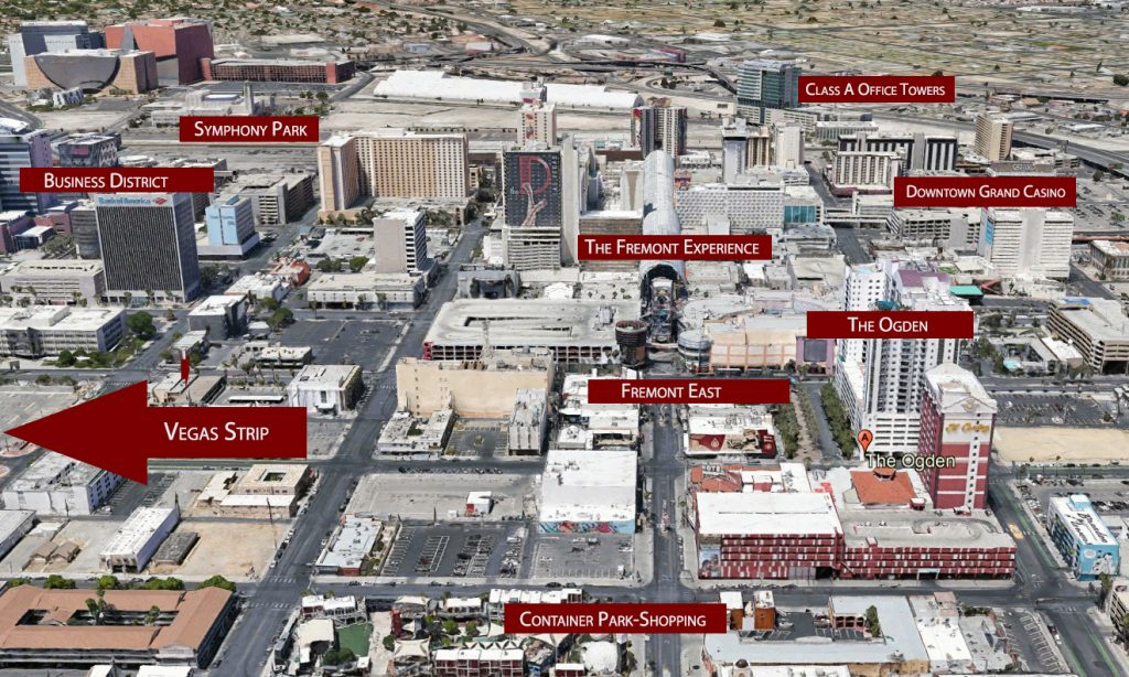 LAS VEGAS Downtown Ogden map