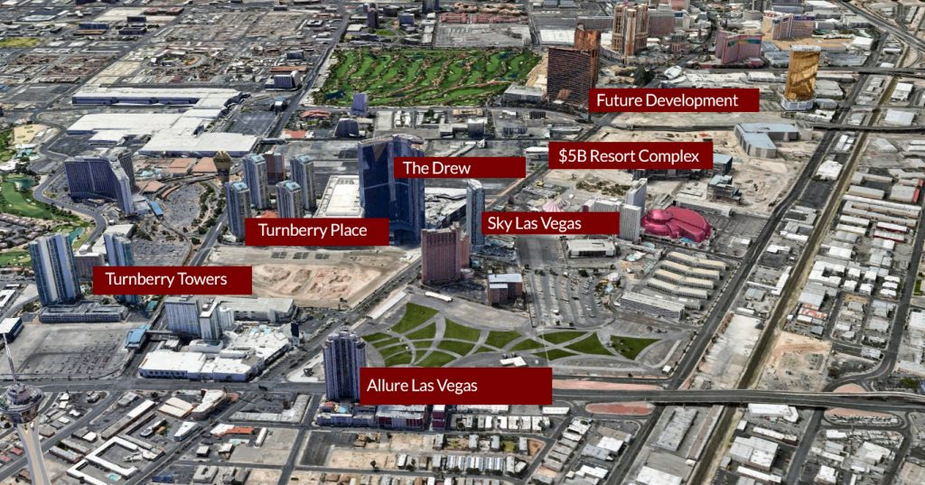 LAS VEGAS North Strip facing south map