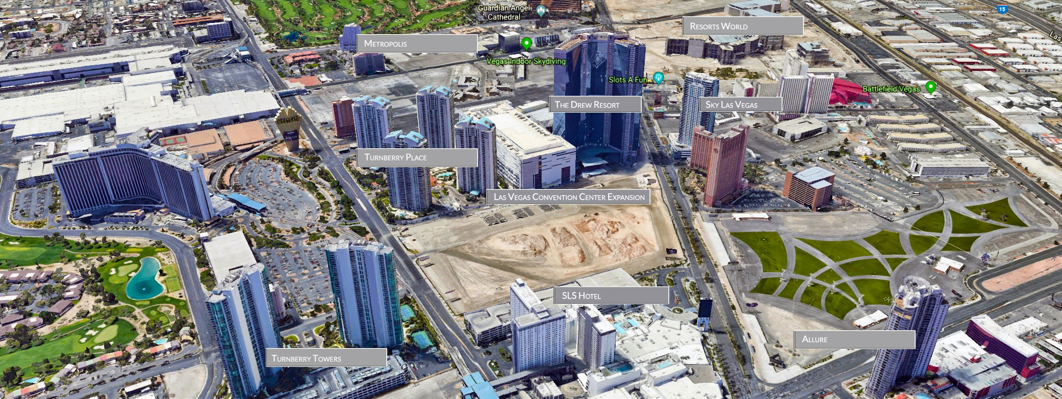 Las Vegas Strip Area Condo Maps | Luxury Real Estate Advisors