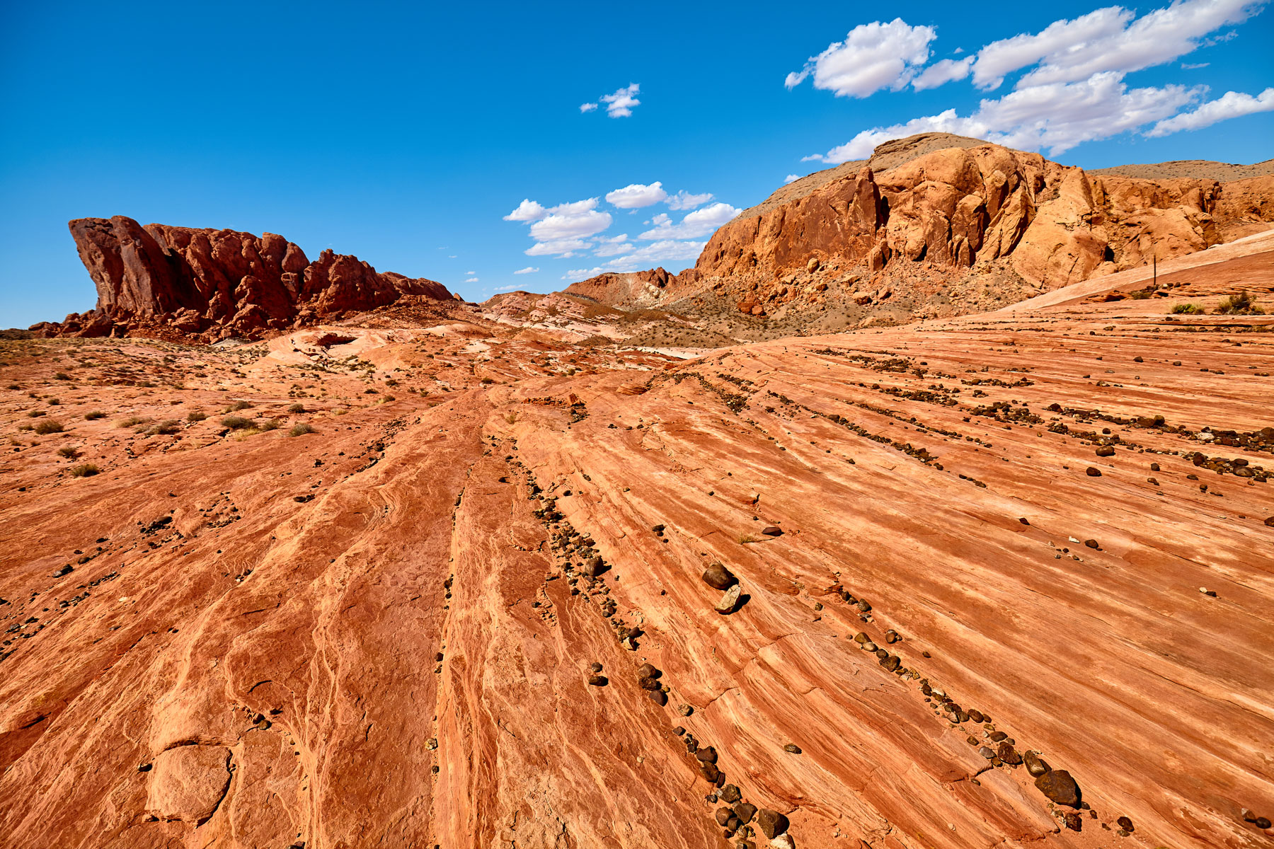 Beautiful rock formations in the Valley of Fire State Park, Nevada, USA.