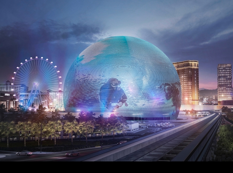 The MSG Sphere Las Vegas is an under-construction music and entertainment venue being built in Las Vegas on the Venetian parcel.