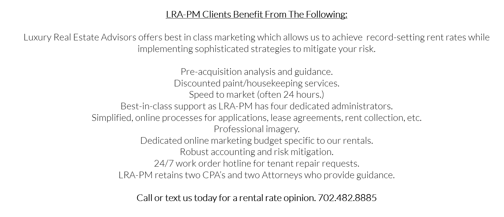 Luxury Real Estate Advisors Management Services