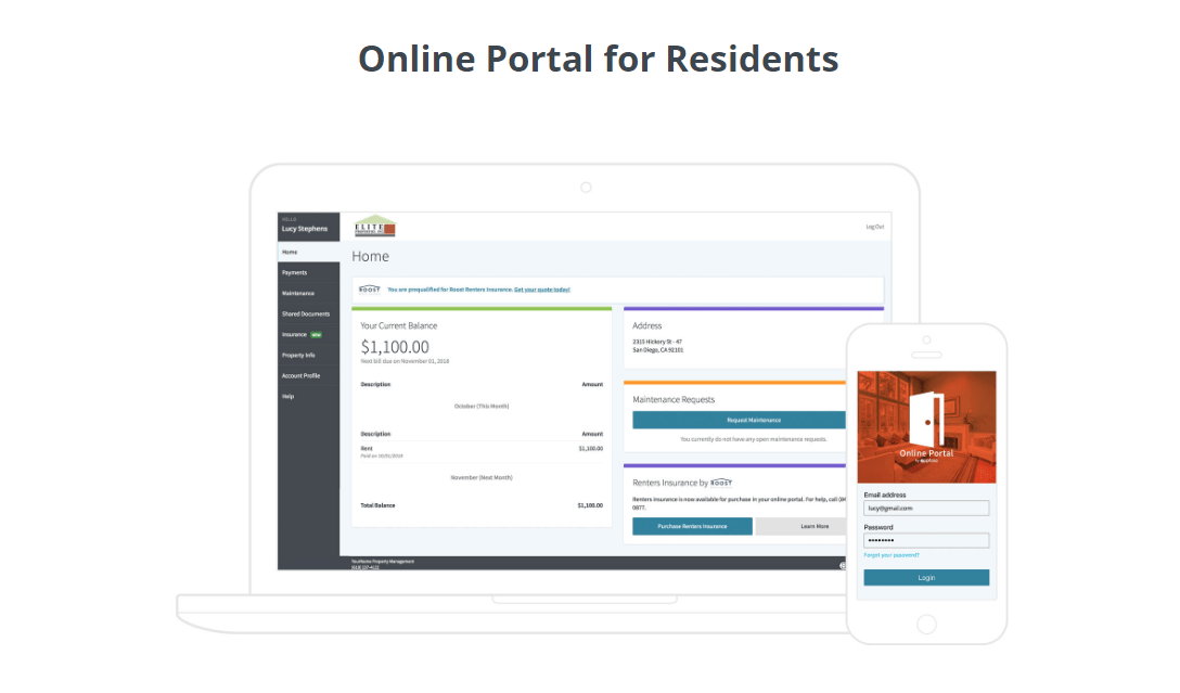Online Portal for Residents